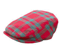 Ganz Christmas Plaid Boy Cap Cotton 6-12 Months