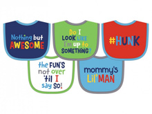 Hamco Terry Attitude Knit Bib Set Boy 5-Pack