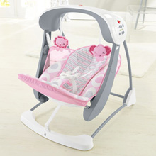 Fisher Price Deluxe Take-Along Swing and Seat, Pink