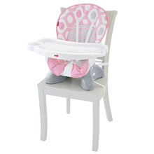 Fisher Price SpaceSaver High Chair - Pink Ellipse™
