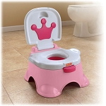Fisher Price Pink Princess Stepstool Potty
