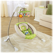 Fisher Price Rainforest Friends Deluxe Cradle 'n Swing