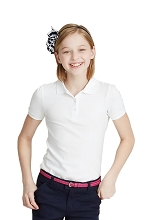 French Toast Girl Skinny Polo White Size 4  40% Off