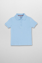 French Toast Interlock Knit Polo, Lt. Blue