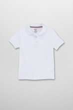 French Toast Interlock Knit Polo, White