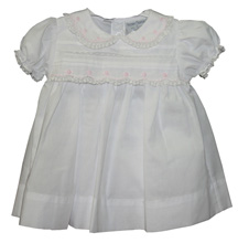 Friedknit by Feltman Brothers Dress and Panty with Lace 3-9m Girl