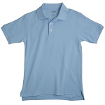 French Toast Pique Polo,  Light Blue