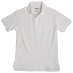 French Toast Pique Polo, White
