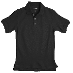 French Toast Pique Polo, Black