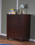Pali Gala 5 Drawer Dresser in Mocacchino