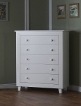 Pali Gala 5 Drawer Dresser in White