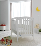 Pali Gala Crib- Fixed Sides in White