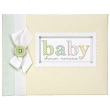 C.R.Gibson Baby Shower Keepsake Book - Expecting A Miracle