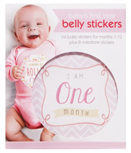 C.R.Gibson First Year Belly Stickers - Girl