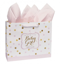 Carter's Large Embellished Gift Bag - Sweet Sparkle