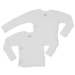 Gerber Long Sleeve Side Snap Shirt - 0-3 Months - 2 Pack
