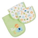Gerber Terry Burp Cloths - 3 pack - Neutral