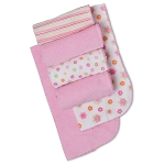 Gerber Terry Cotton Burp Cloths - Girl - 6 Pack