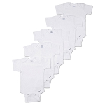 Gerber Short Sleeve Onesies® One Piece Underwear - 6-9 Months - 5 Pack