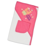 Gerber Girl 2 pc Hooded Towel & Washcloth Bath Set