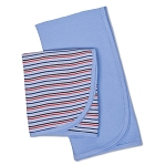 Gerber 2 Pack Thermal Receiving Blankets-Blue