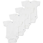 Gerber Organic Short Sleeve Onesies® One Piece Underwear 3-6M - 4 Pack