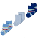 Gerber Baby Sock - Boys 3-6 Months - 3 Pack