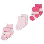 Gerber Baby Socks - Girl 6-9 Months - 3 Pack