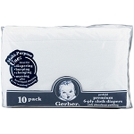Gerber Prefold Gauze Cloth Diapers with Center Pad - 10 Pack