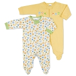 Gerber Zip Front Sleep 'N Play - Neutral 0-3 Months - 2 Pack