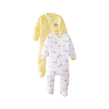 Gerber Two-Pack Sleep-N-Play Snap-Front, Neutral, Newborn