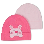 Gerber Baby Caps - Cats - Girls 12-24 Months - 2 Pack