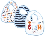 Gerber 3PK Bib Interlacking Boys