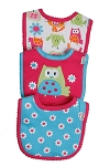 Lamaze Cats Interlocking Bibs - Girls - 3 Pack