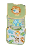 Lamaze Animals Interlocking Bibs - Neutral - 3 Pack
