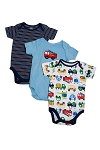 Lamaze Short Sleeve Bodysuits Boy 6-9 Months - 3 Pack