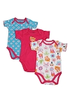 Lamaze Short Sleeve Bodysuits Girl 6-9 Months - 3 Pack
