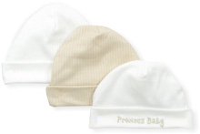 "Gerber Baby Knit Cap ""Precious Baby"", 0-6 Months - 3 Pack"