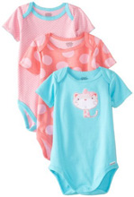 Lamaze Bodysuits Cat Girl 6-9 Months 3-Pack