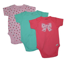 Lamaze Bodysuits Bow 12-Months 3-Pack Girl