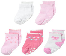 Lamaze Flower Bow Socks 5-Pack Girl 0-6 Months