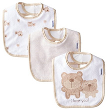 Gerber Baby-Unisex Terry Dribbler Bib, Bears, One Size (Pack of 3)