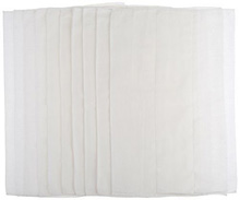 Gerber Prefold Premium 6-Ply Cloth Diaper with Absorbent Padding, 10 Pack