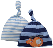 Gerber Baby 2 Pack Caps, Transportation - 0-6 Months