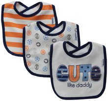 Gerber Baby-Boys Terry Dribbler Bib, Sports, One Size (Pack of 3)