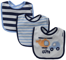 Gerber Baby-Boys Terry Dribbler Bib, Transportation, One Size (Pack of 3)