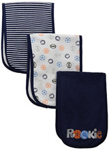 Gerber Baby-Boys Newborn 3-Pack Terry Burp Cloths, Sport
