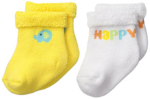 Gerber Baby Terry Socks, Neutral, 0-6 months - 2 Pack