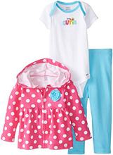 "Gerber Baby Girls' Three-Piece Set, ""Little Cutie"""