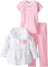 "Gerber Baby Girls' Three-Piece Set, ""Mommy Loves Me!"""